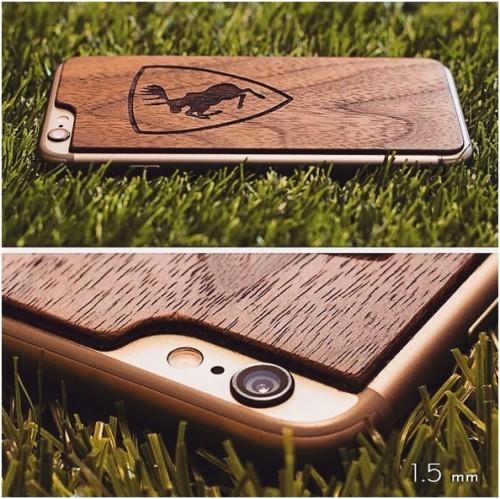 Ореховая накладка для iPhone