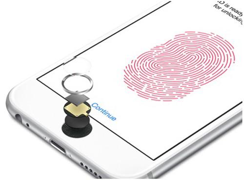 Сканирование отпечатка пальца и кнопка Home