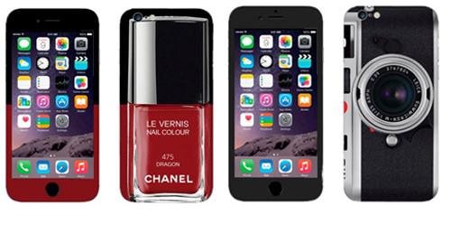 Накладки для iPhone, с рисунком лака для ногтей и фотоаппаратом