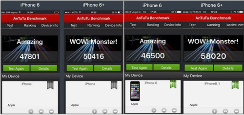 antutu Benchmark для iРhone6 и 6+