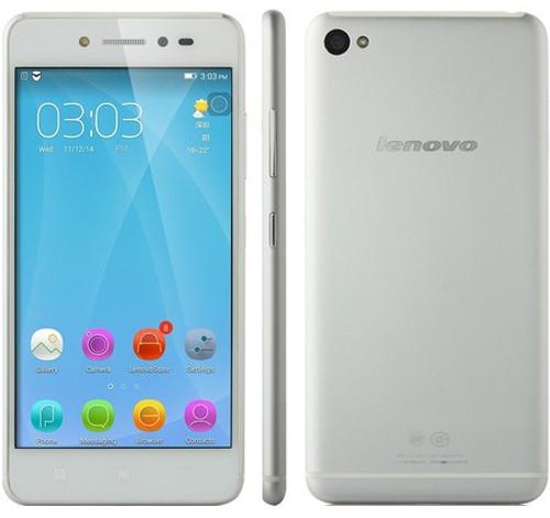 Вид спереди, сбоку и сзади смартфона Lenovo