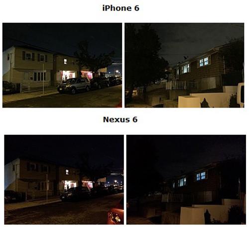 Фото, сделанные камерами iPhone и Nexus