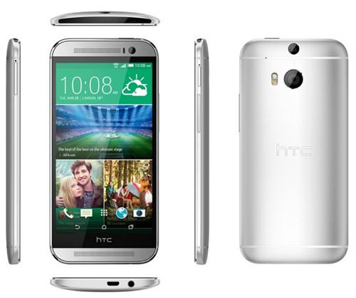 Вид спереди, сзади и сбоку смартфона HTC One (M8)