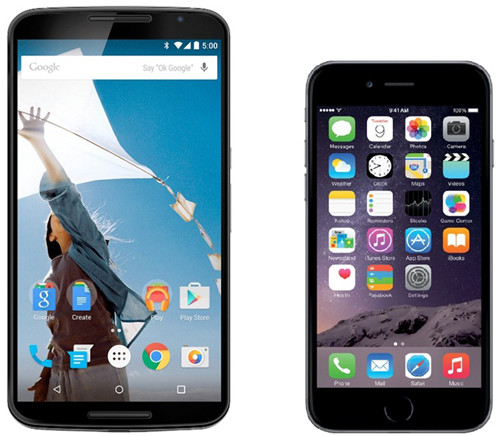 Nexus и iPhone