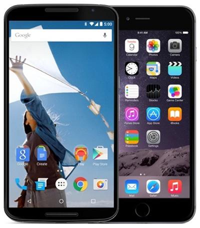 Дисплеи Nexus и iPhone