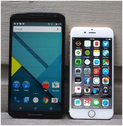 iPhone и Nexus - визуальное сравнение
