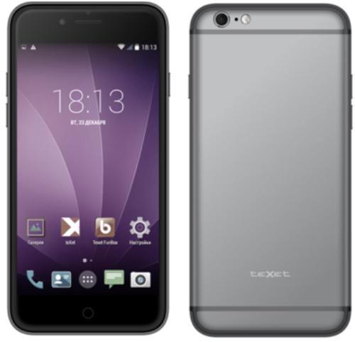 Вид спереди и сзади смартфонаteXet