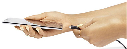 Nexus и его зарядное устройство в руках