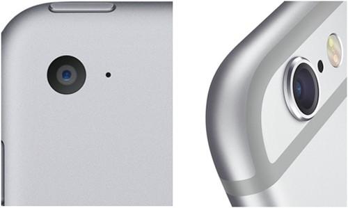 Вид спереди и сбоку камеры iPhone 6