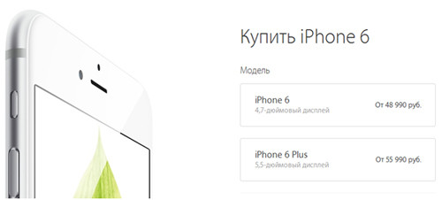 Цена на iPhone 6