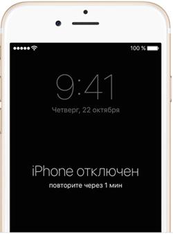 Предупреждение про отключение iPhone
