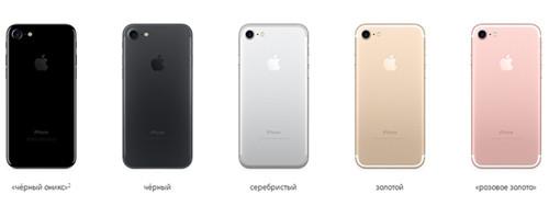 Разные цвета седьмого айфона