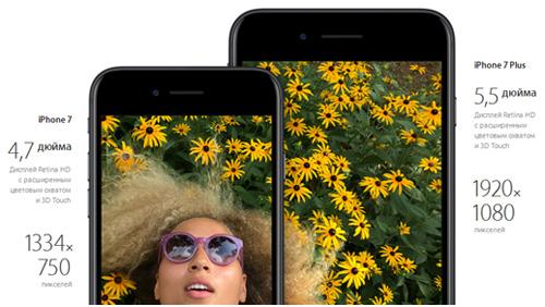 Описание дисплея iPhone 7