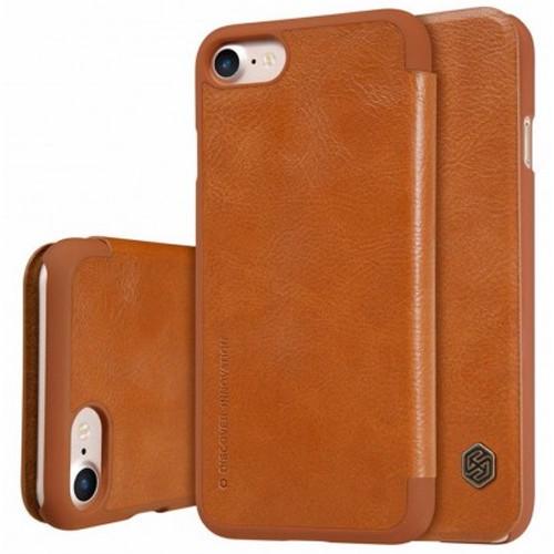 Кожаный чехол для iPhone 7 коричневого цвета