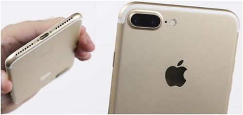 Пластикове полосы под антенны на золотистом айфоне
