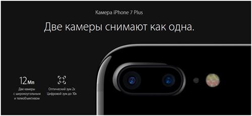 Камеры айфон 7 плюс