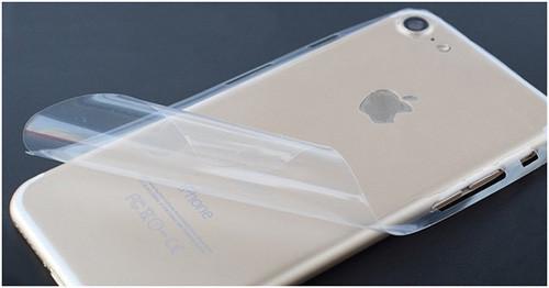 Защитная пленка и золотистый iPhone 7