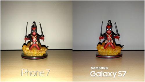 Фото со вспышкой, сделанные камерами Samsung Galaxy S7 и iPhone 7