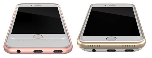 Золотистый и розовый кейсы от Daptr
