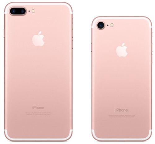 Розовый цвет iPhone 7 Plus и iPhone 7